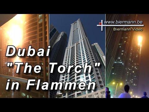 "Großbrand im ""The Torch"" Tower in Dubai Marina"