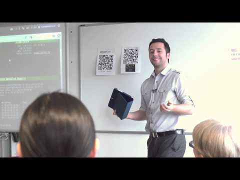 Hacking demo at Sheffield Hallam University