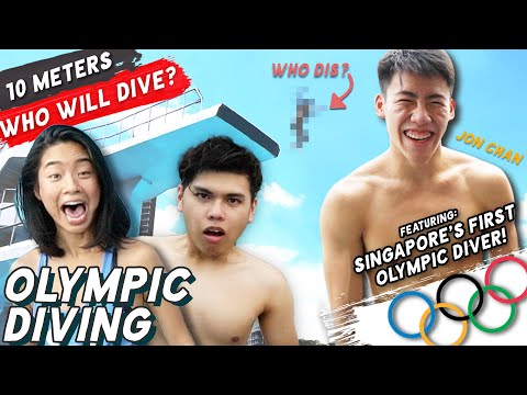 Singaporeans Try: Regular People Try Olympic Diving For The First Time!