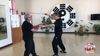 5 Section Taijiquan Partner Sword Form performed by Réal Lalande and Tim Stanley