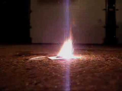 Powdered Magnesium Test Reaction With Water