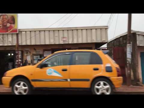 Cameroun Trajet dans Yaoundé / Cameroon Drive inside Yaounde