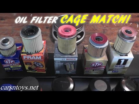 OIl Filter Comparison...STP vs FRAM vs BOSCH vs MOBIL1