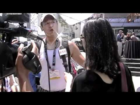 Celebrity Liam Stone Interviewed at Cinegear 2012 by China News' (XinHua) Lynn Zhou