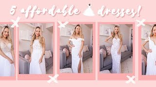 TRYING ON AFFORDABLE WEDDING DRESSES! ✨ Under $250 + beautiful!