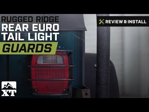 Jeep Wrangler Rugged Ridge Rear Euro Tail Light Guards - Black (1987-2006 YJ, TJ) Review & Install