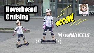 MEGAWHEELS HOVERBOARD 😎 Mama vs. Hannah - Wer kann es besser? 5-Jährige zum 1. Mal auf Hoverboard