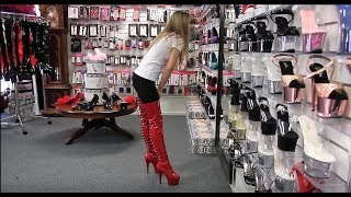 Review Pleaser Adore 3063 Red 7 Inch Thigh High Boots