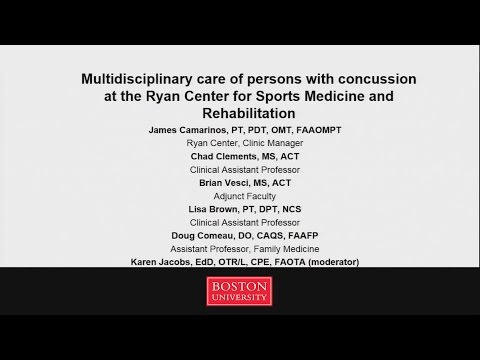 Multi-Disciplinary Care of People with Concussions, Ryan Center for Sports Medicine & Rehabilitation