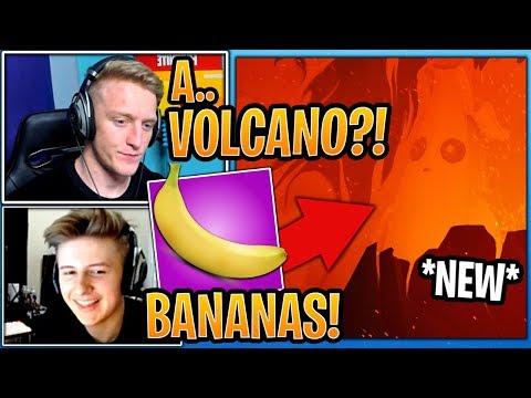 "Streamers React to *NEW* Season 8 ""Bananas & Volcano"" Coming to Fortnite! (Teaser #4) - Fortnite thumbnail"