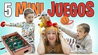 5 MINI JUEGOS de MESA para NIÑOS ¡¡Muy divertidos!! // Familukis