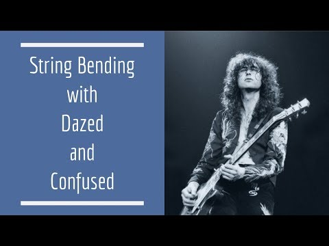 String Bending with Dazed and Confused | Guitar Lesson Tutorial | Guitar Techniques