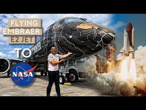 Flying Embraer E195-E2 Jet to NASA Space Center