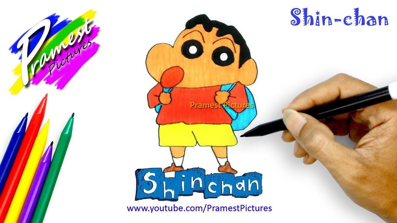 How to Draw Shin Chan 🎨 Drawing Cartoons Coloring Pages for Kids