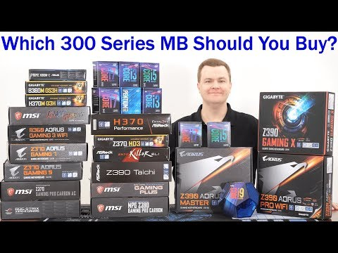 Which 300 Series Motherboard Should You Buy? — H310 To Z390 Covered W/ CPU Choices G5400 To I9-9900K