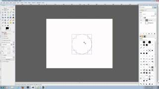 Gimp Tutorial| How to make a perfect circle + add stroke to that circle