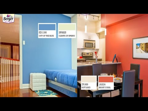 Colour Combinations Berger Paints Bedroom Wall Colours Living Room Wall Colour Ideas Mana Trends Youtube