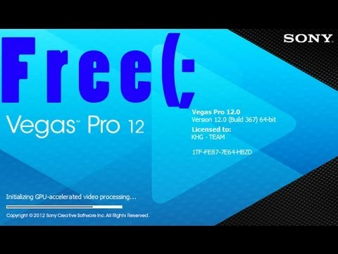 How to get sony vegas pro 12 free (best video editor ever)