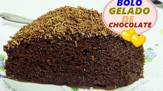 BOLO GELADO DE CHOCOLATE MOLHADINHO