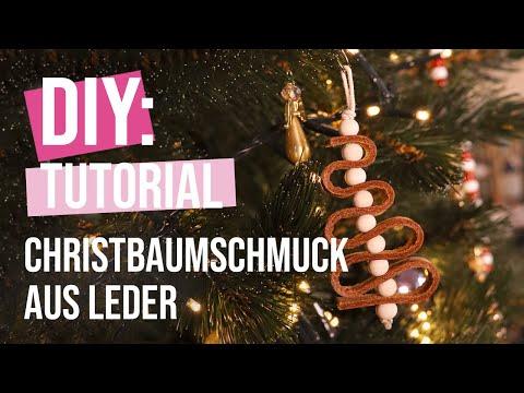 DIY Tutorial: Christbaumschmuck aus Leder