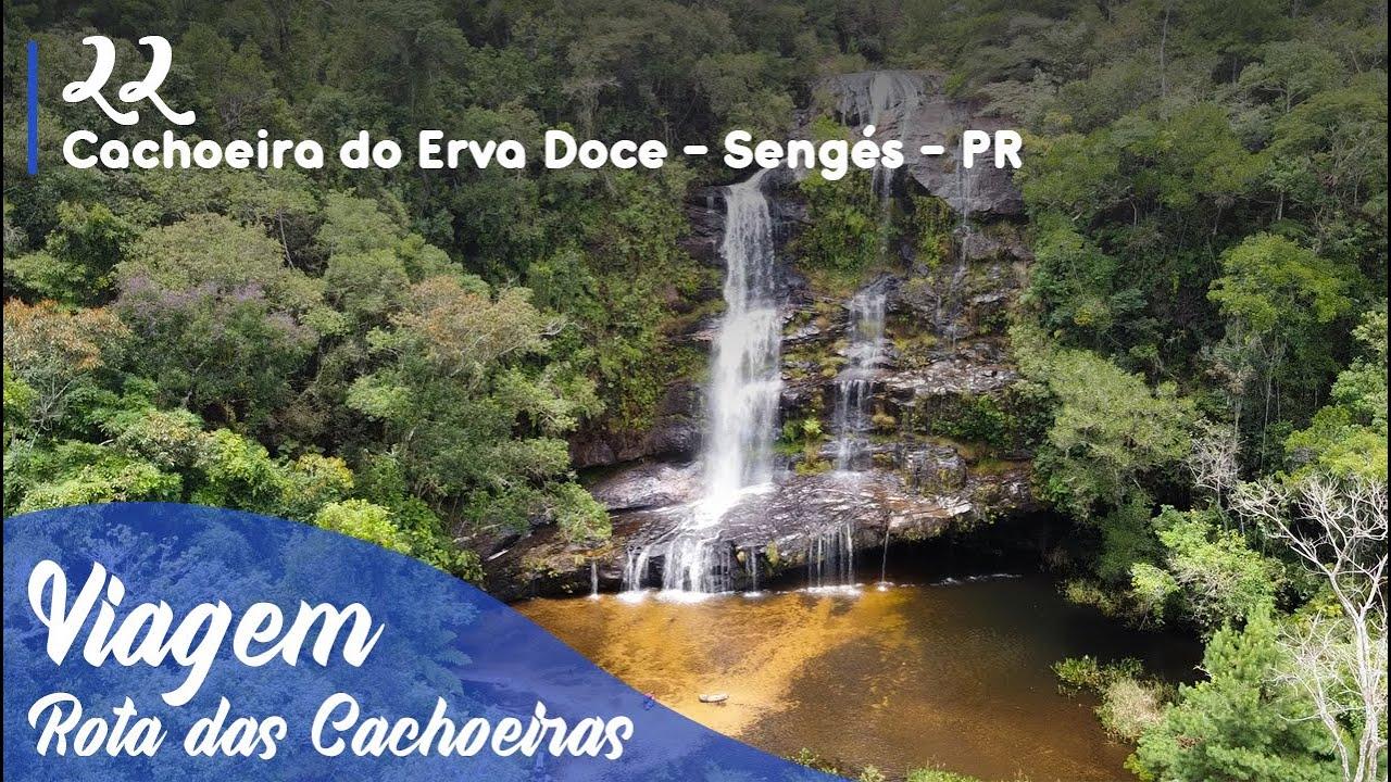 Cachoeira do Erva Doce em Sengés - PR   Rota das Cachoeiras #22