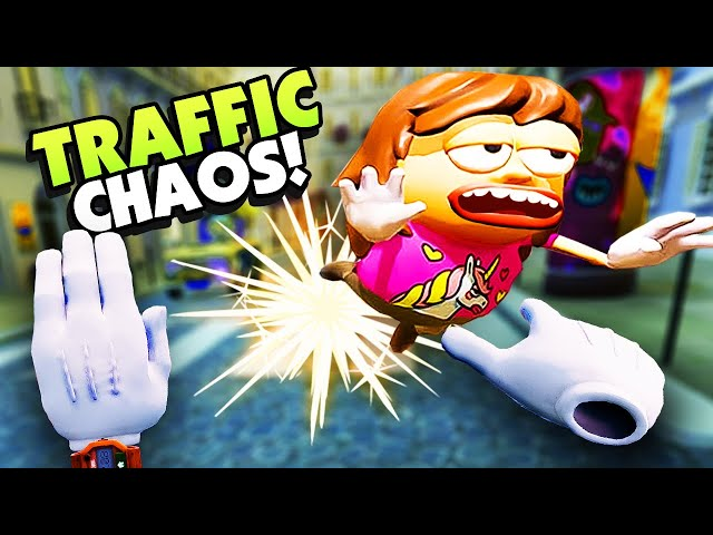 My HANDS RUN PEOPLE OVER! - Traffic Jams VR