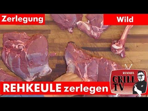 Rehkeule Zerlegen in Oberschale, Unterschale, Hüfte... Rummel Grill TV #rummelgrilltv