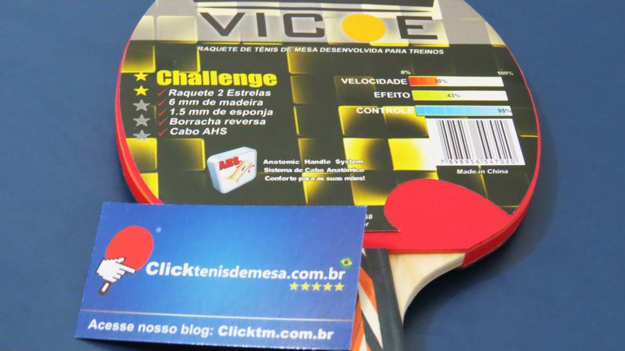 342bd7a51 Raquete p  Tênis de Mesa Mod. CHALLENGE (2 ESTRELA) - Clássica - VICOE PING  PONG
