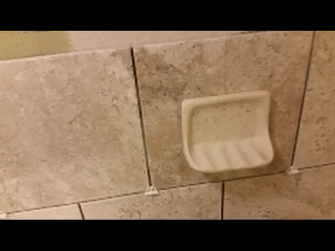 how to install a soap dish on shower wall  Step by Step  DIY  YouTube