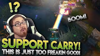 SUPPORT CARRY! League of Legends - Lux [Support] Bot Lane |LoL Gameplay|