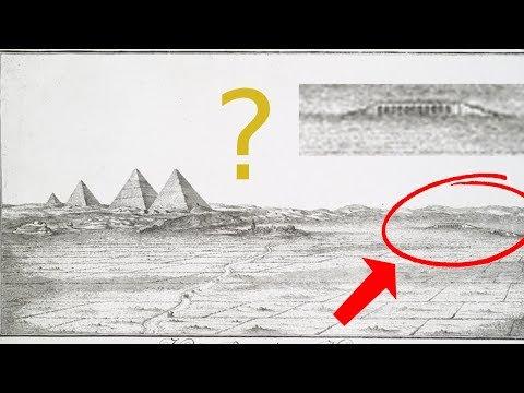 """Old GIZA Drawings Reveal """"ENORMOUS"""" Nearby ruins now LOST to ARCHAEOLOGY!"""