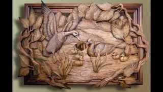 Картины из дерева в декоре дома. Резьба по дереву фото(Картины из дерева в декоре дома. Резьба по дереву фото. В интерьере очень красиво будут смотреться картины..., 2015-01-11T13:05:25.000Z)