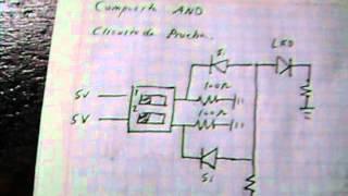 puertas logicas and y or con diodos