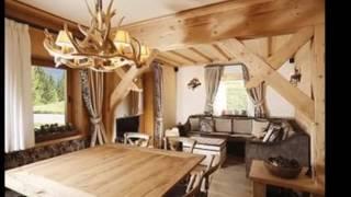видео Интерьер в деревянном доме из бруса в современном стиле