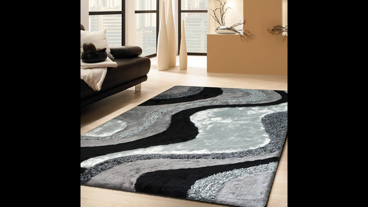 Luxurious Handmade Area Rug For Indoor Living Room In Grey With