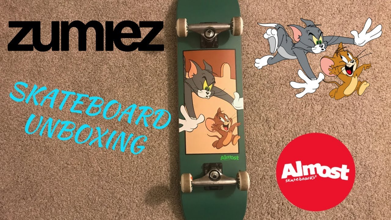 dc9303120d Unboxing Almost Tom & Jerry Complete Skateboard from Zumiez
