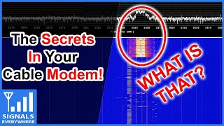 The Secret Signals Hiding In Your Cable Modem | SDR Used to Sniff Cable Internet Modem Coax