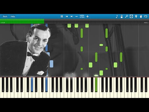 Glenn Miller  In The Mood Piano Synthesia Animation