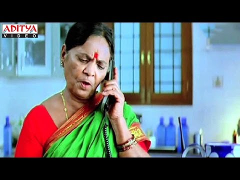 Pavala Shyamala Phone Comedy With Villian - Golimaar Hindi Movie