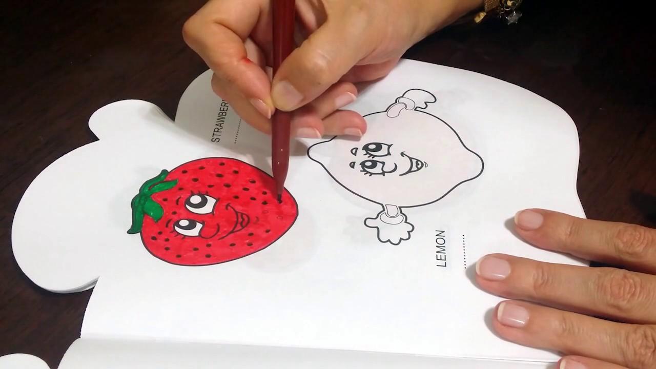 çilek Ve Limon Boyama Sayfası çocuklar Için Eğlenceli Videolar