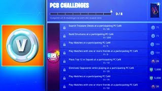 How To Get PCB Challenges (EXPLAINED) Fortnite FREE V-BUCKS & TIERS Challenge Guide (PC Bang Korea)