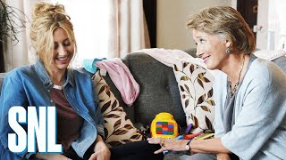 A mother (Emma Thompson) and daughter (Heidi Gardner) assure each other of their motherhood abilities. #SNL #EmmaThompson #JonasBrothers #SNL44 ...