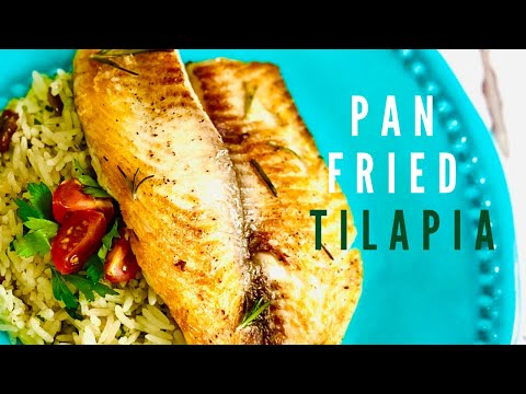 Super Simple Pan Fried Tilapia Fillet | High Protein & Low Fat | Healthy Living