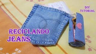 2 ideias incríveis com retalhos de jeans/recycling jeans flaps#reciclando