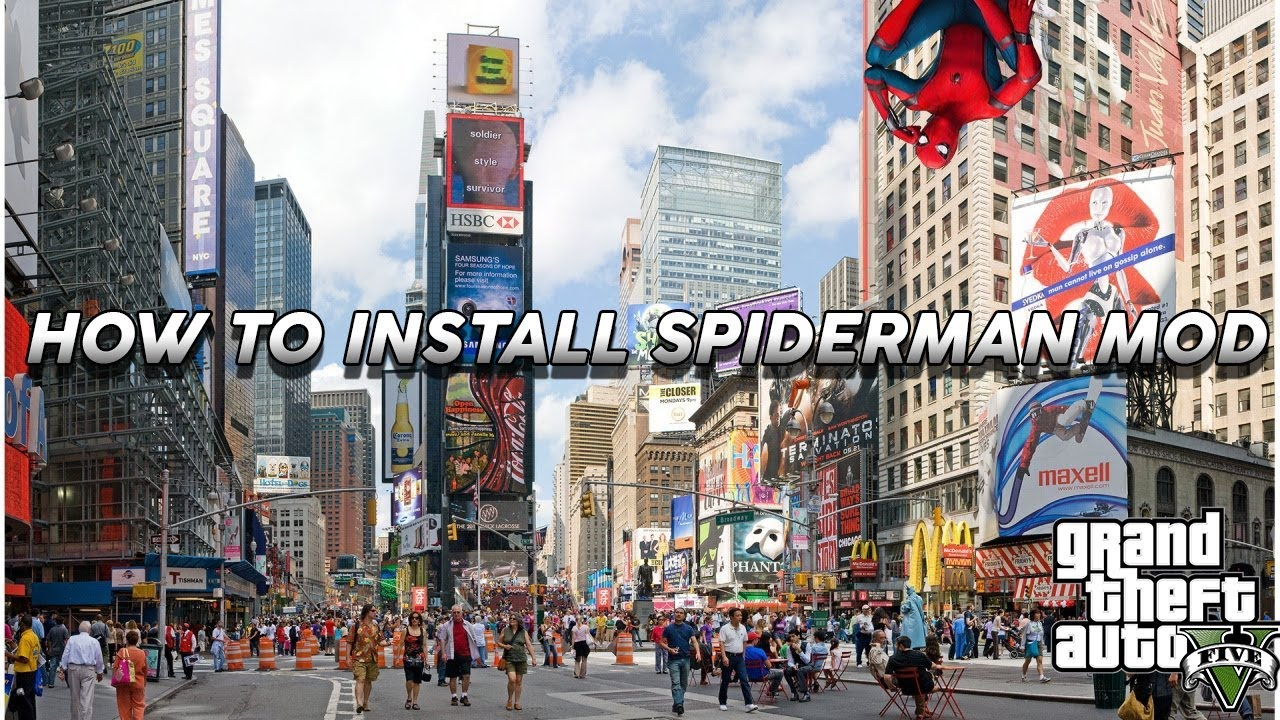 "How to install Spiderman Mod For Grand theft auto 5!! ""Tutorial Series"""
