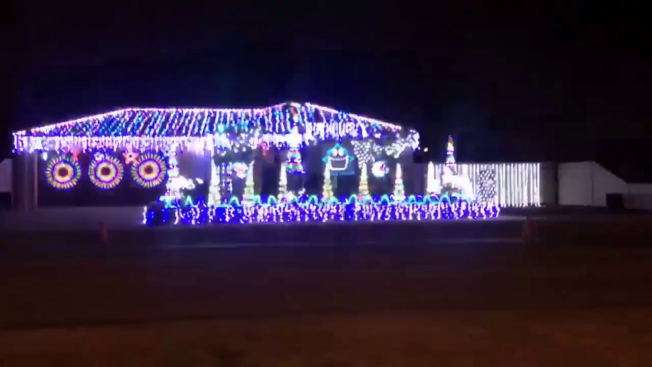 Christmas Light Show To Music   Australia   Black Betty