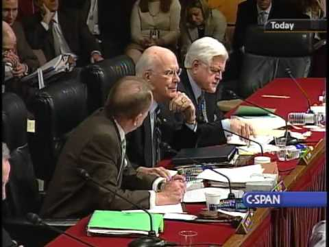 Edward Kennedy has a little quibble with Arlen Specter during an Alito Hearing - Very entertaining