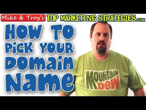 Choosing Your Site's Domain Name - TopMarketingStrategies.com