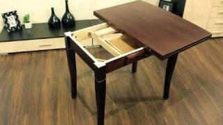 Видео презентация обеденного стола А 14(Раскладной обеденный стол. Каркас стола выполнен из натурального дерева, вскрытого качественным двухкомпо..., 2010-12-30T15:04:45.000Z)