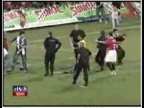 Activist in Portugal Football game..